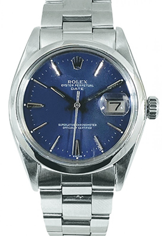 Rolex Date Model 1500 Stainless Steel