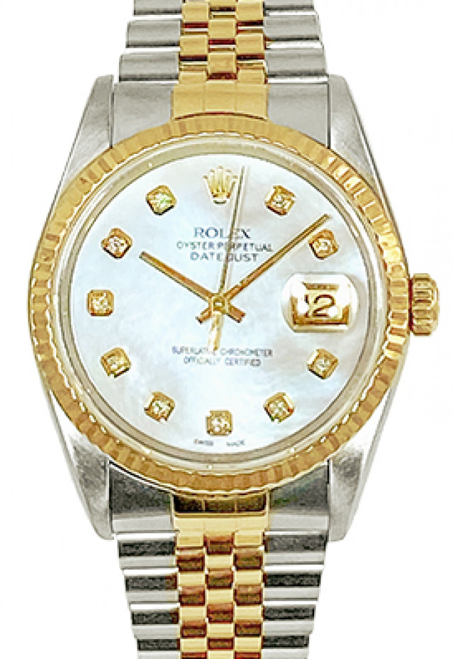 Rolex 16233 Mother Of Pearl Diamond Dial