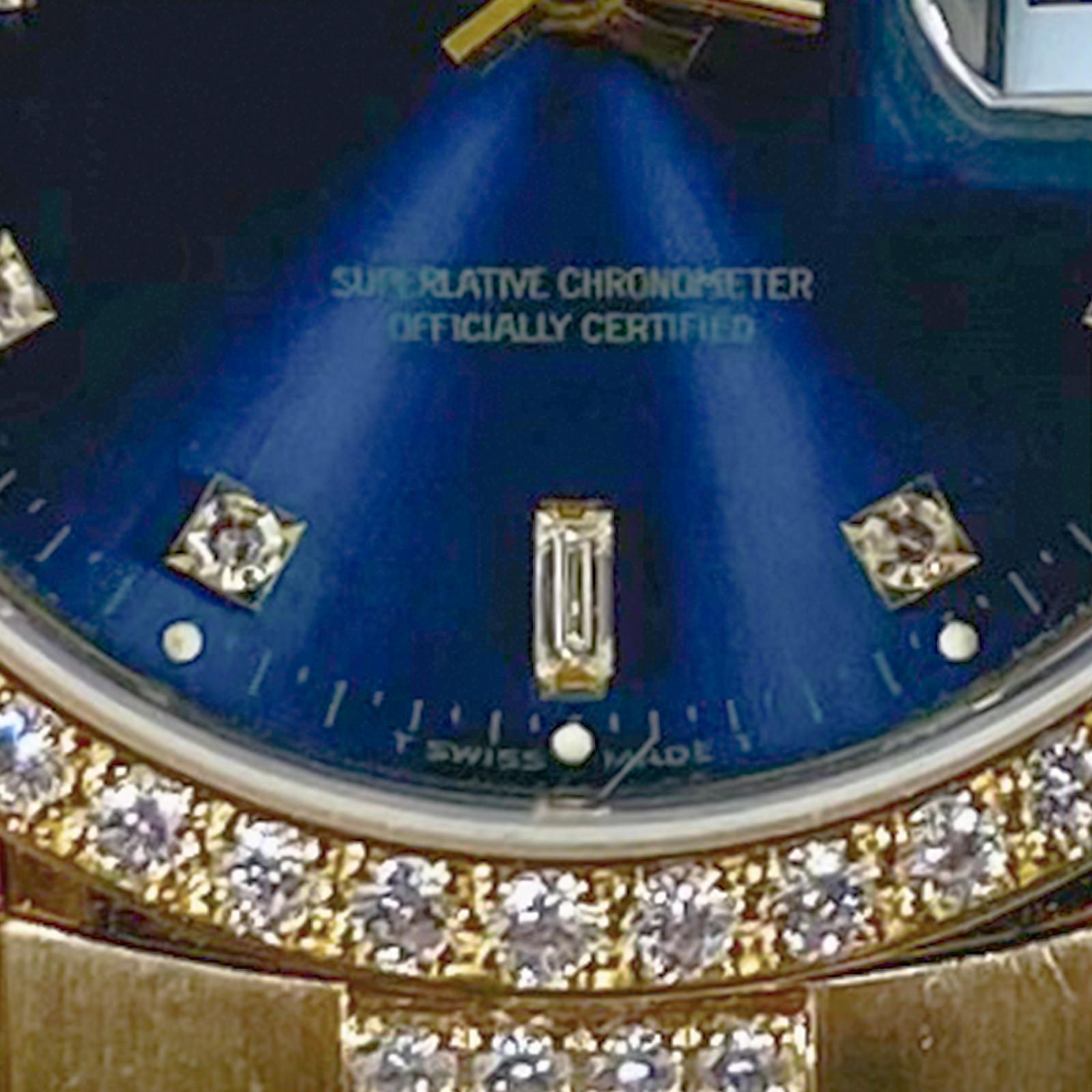 1999 Blue Rolex Day-Date Ref. 18238 Factory Diamonds