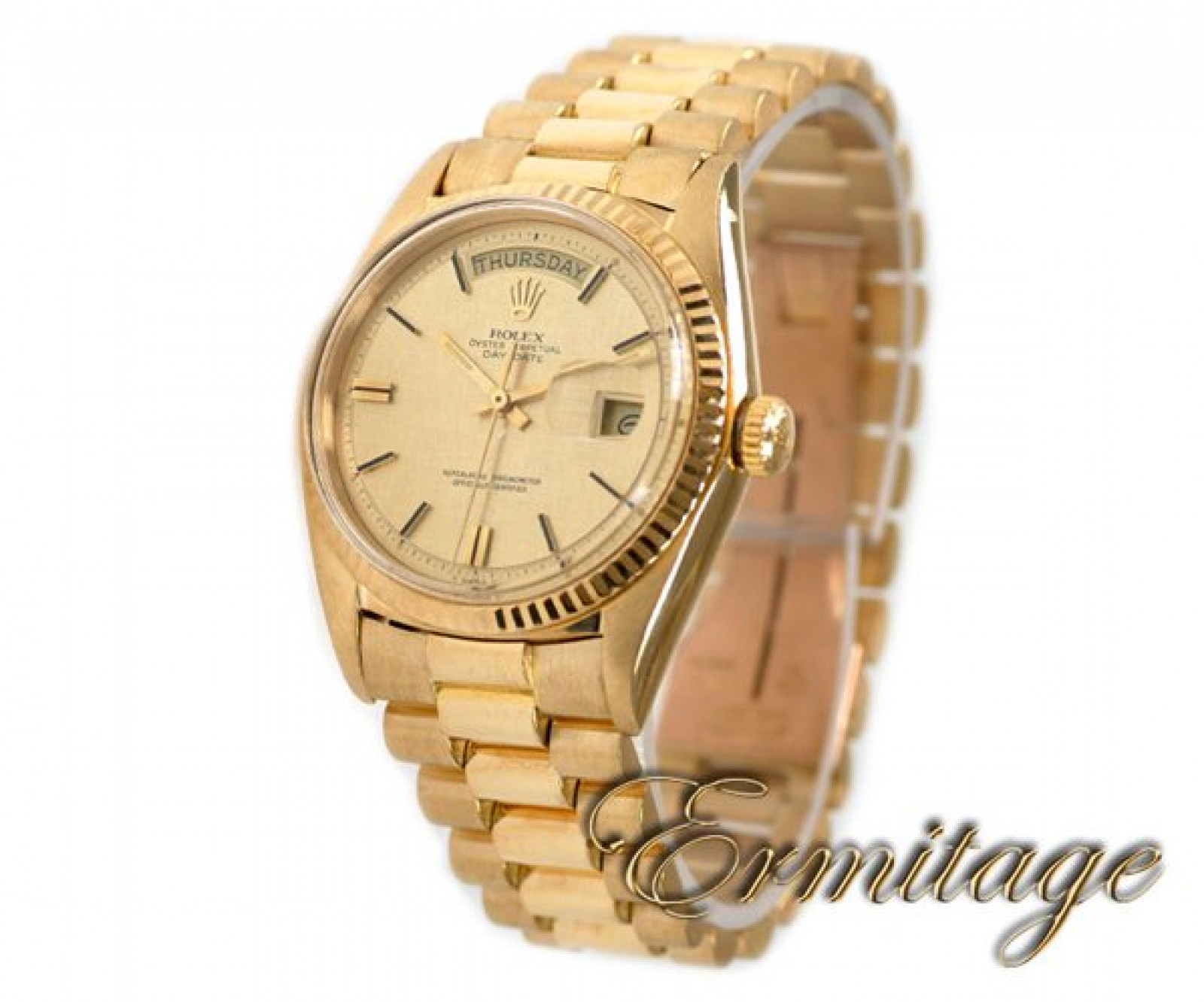 Vintage Rolex Day-Date 1803 Gold Year 1970 with Champagne Dial 1970