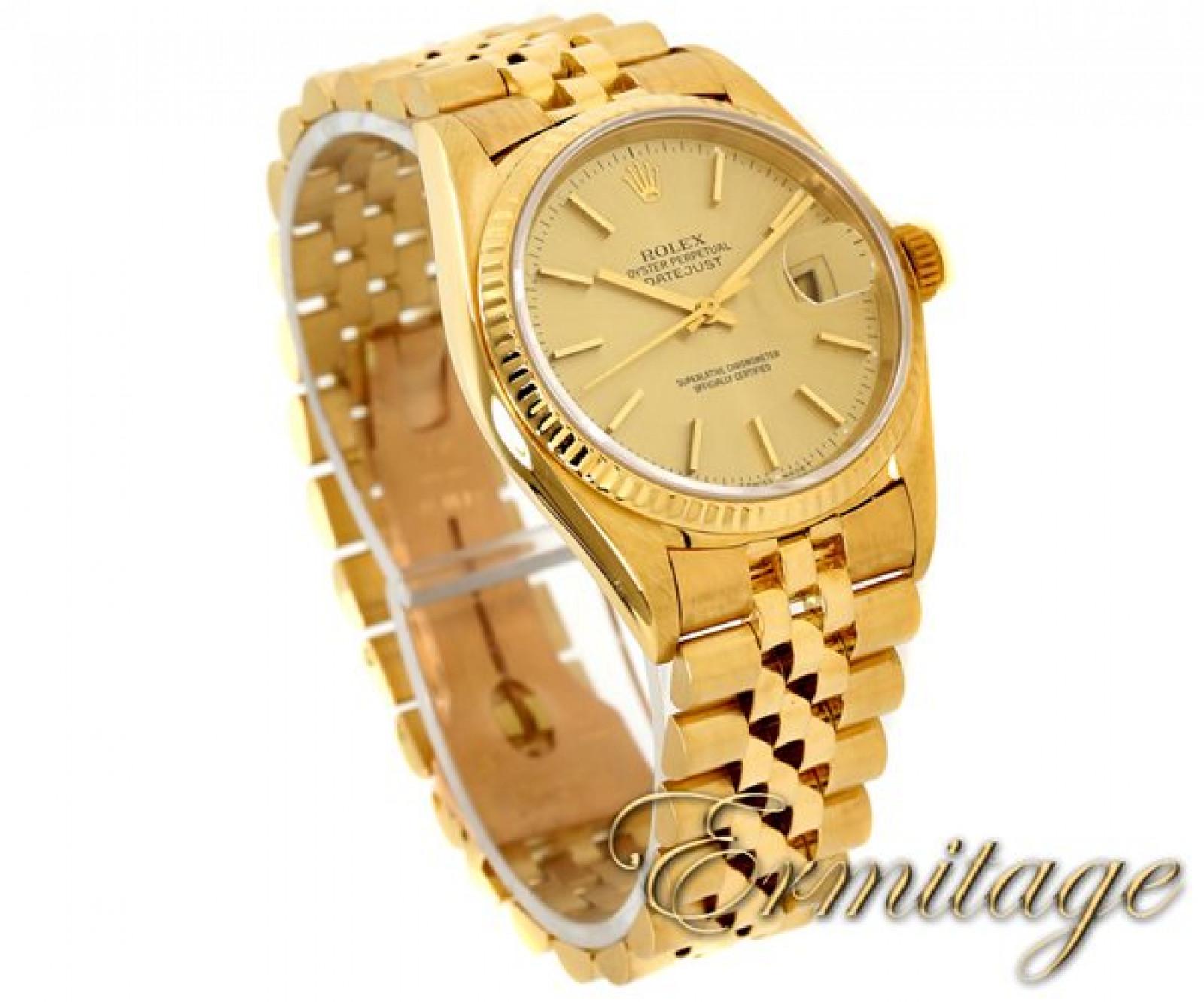 Luxury Rolex Datejust 16018 Gold