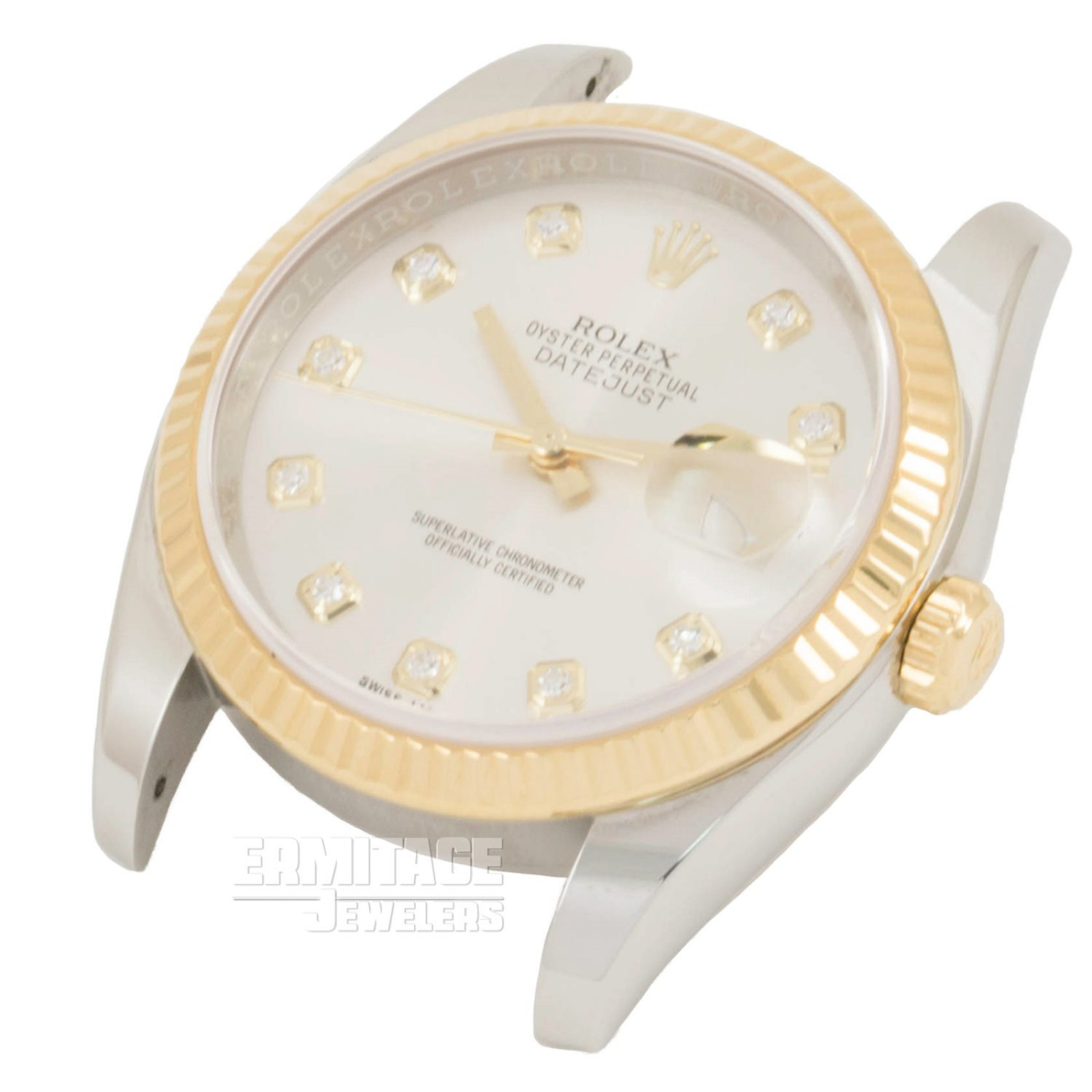 Pre-Owned Yellow Gold Rolex Datejust 116233 with Silver Dial