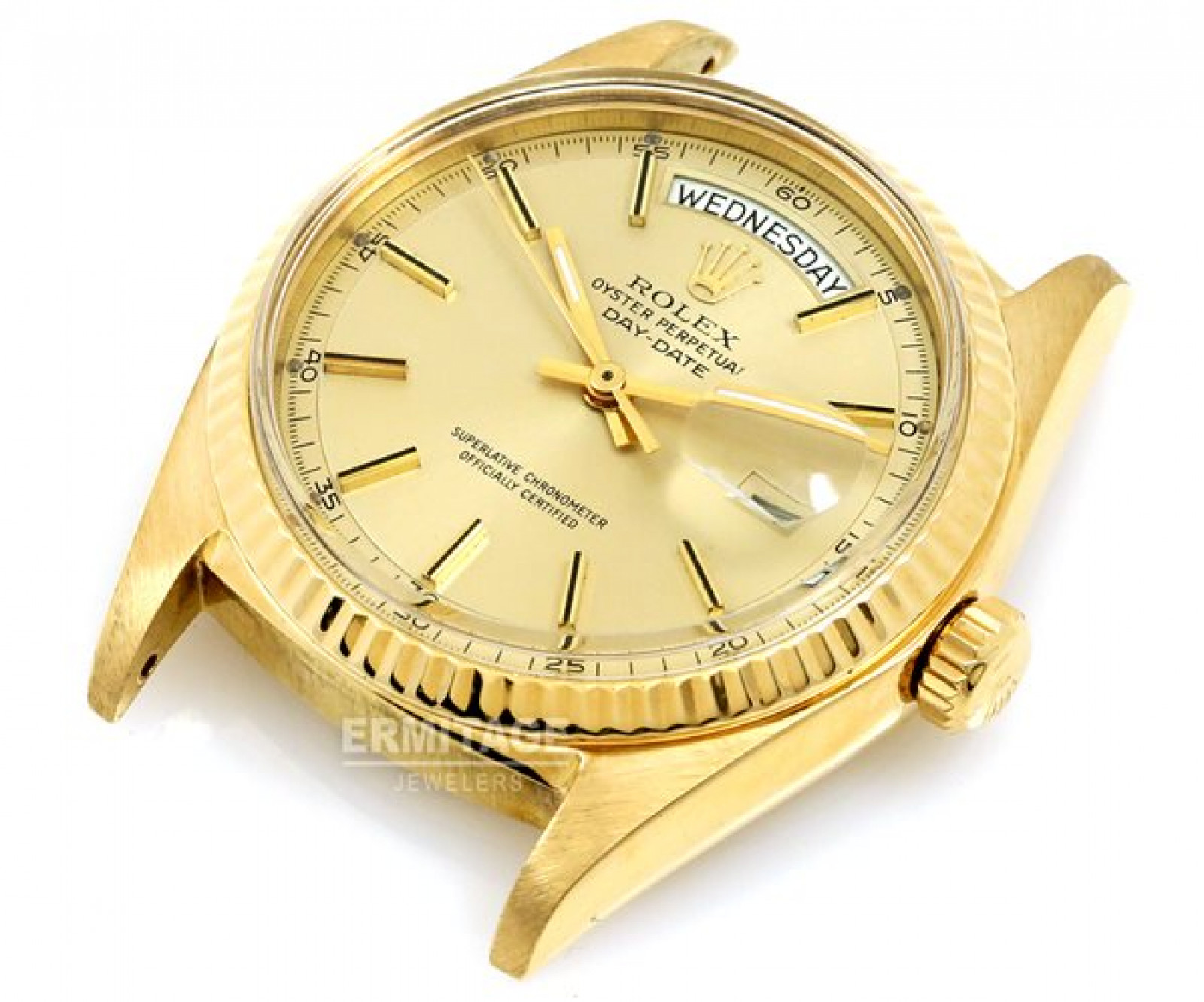 Vintage Rolex Day-Date 1803 Gold Year 1975 with Black Dial