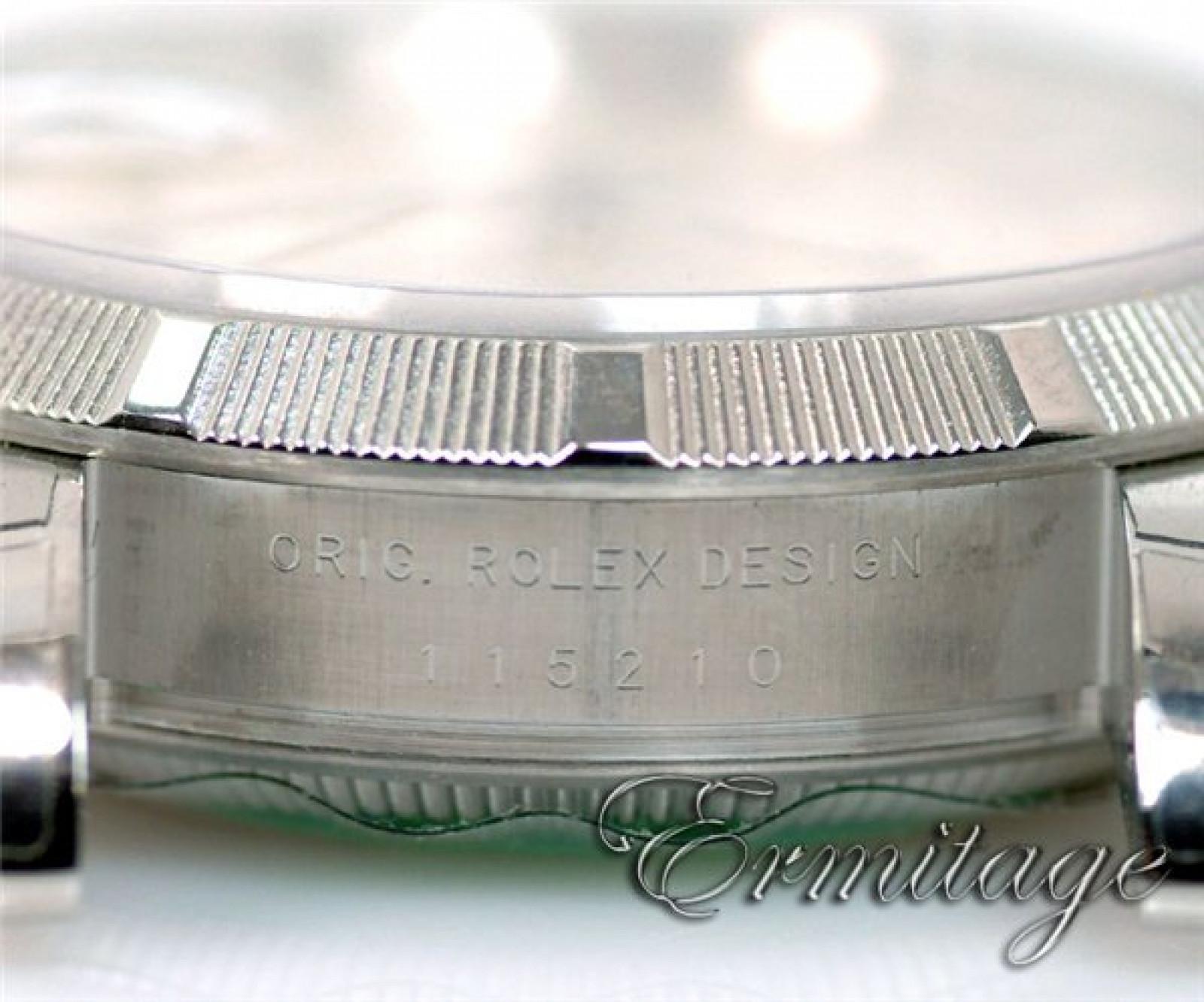 Rolex Date 115210 Steel Silver Dial 2012