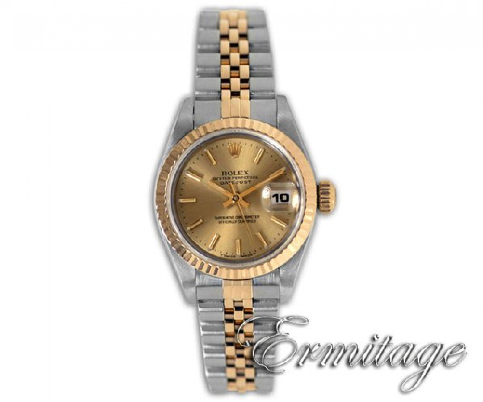 Pre-Owned Gold & Steel Rolex Datejust 69173 Year 1999